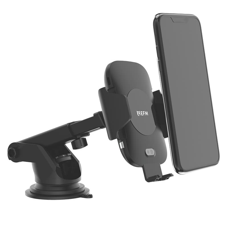 EFM 15W Automatic Wireless Car Charging Mount With Type C Cable