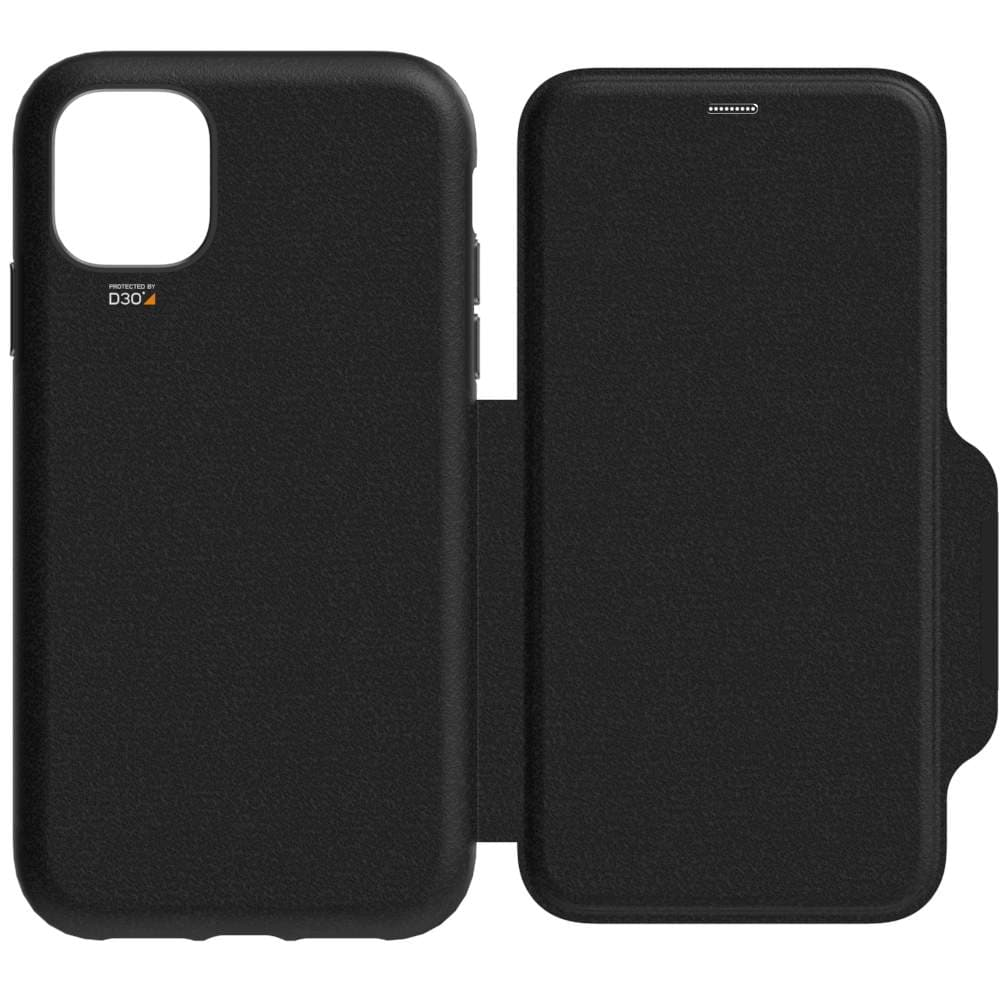 EFM Monaco D3O Leather Wallet Case Armour For iPhone XR|11 - Black| Space Grey