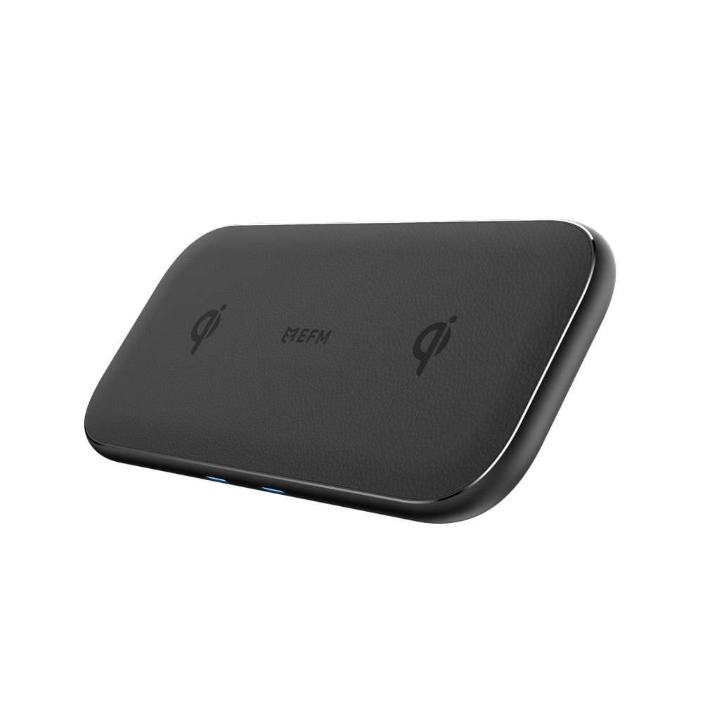 EFM 15W Dual Leather Wireless Charge Pad With 47W Wall Charger and features 4 x 15W Wireless Coils
