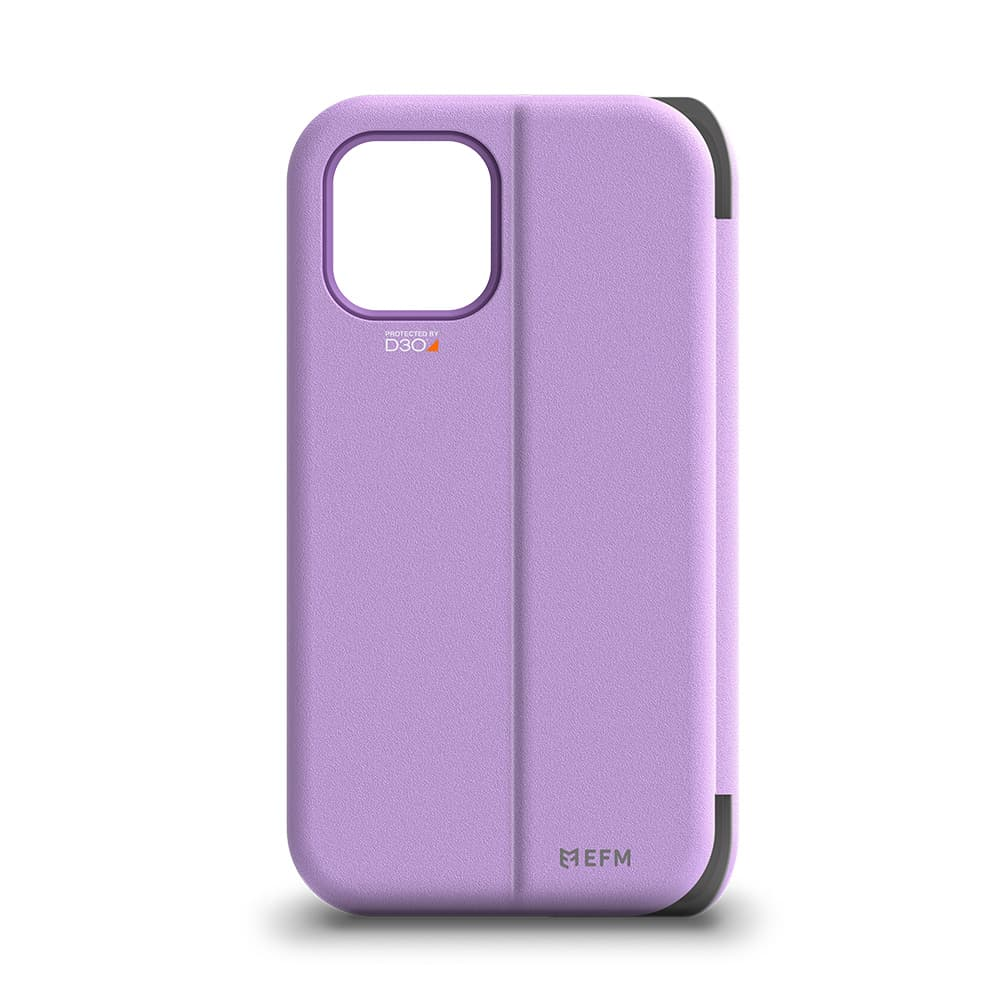 """EFM Miami Wallet Case Armour with D3O For iPhone 12/12 Pro 6.1"""" - Heliotrope"""
