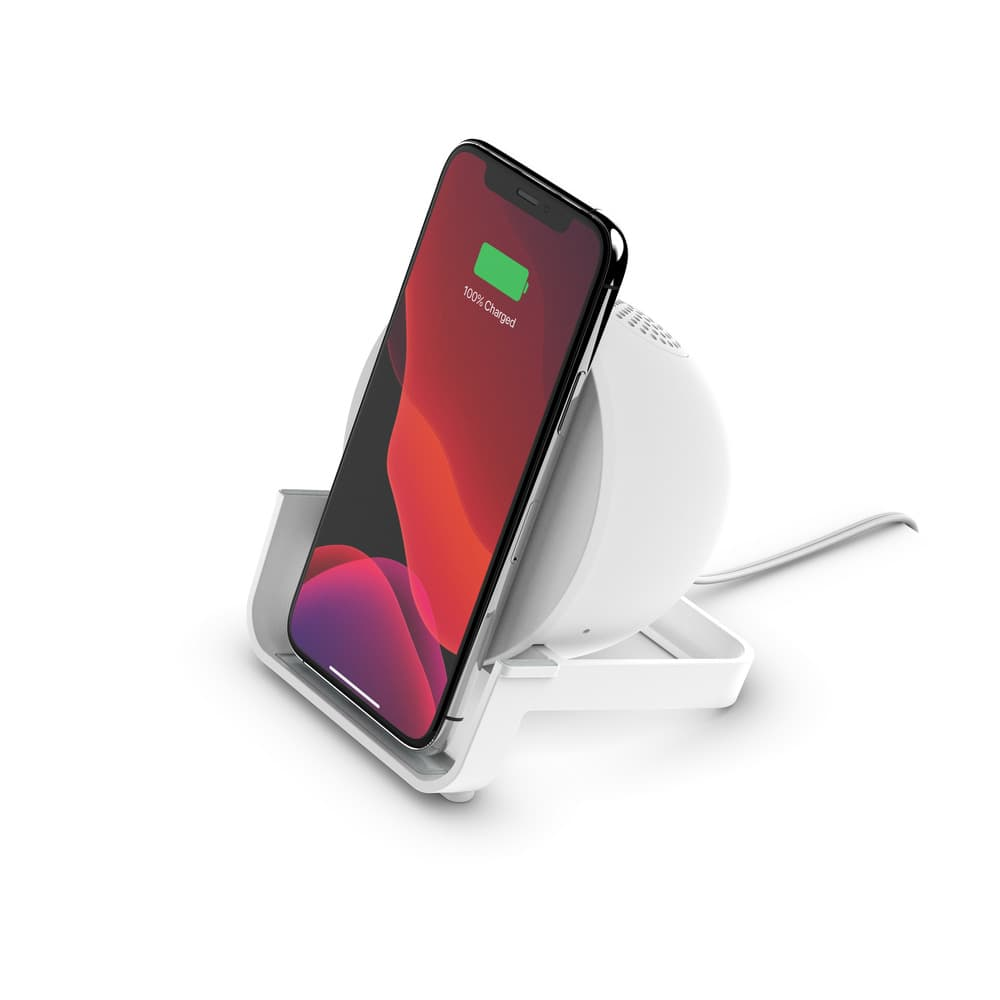 Belkin BOOSTCHARGE 10W Wireless Charging Stand and Speaker Universally compatible - White
