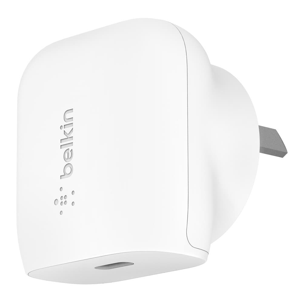 Belkin BoostUp 18W USB-C PD Wall Charger  Universally compatible - White