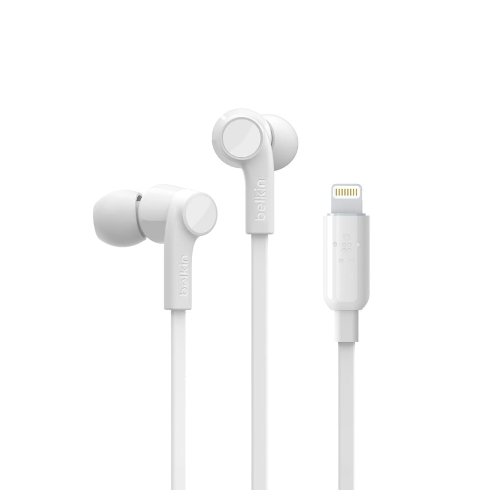 Belkin Rockstar Headphones with Lightning Connector For Apple Devices - White